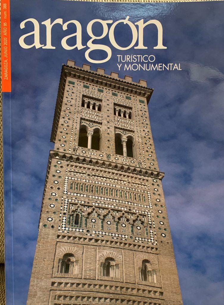 La Torre de la Magdalena (foto cortesía del Arzobispado de Zaragoza) en la portada del número 388 de la revista 'Aragón, Turístico y Monumental'
