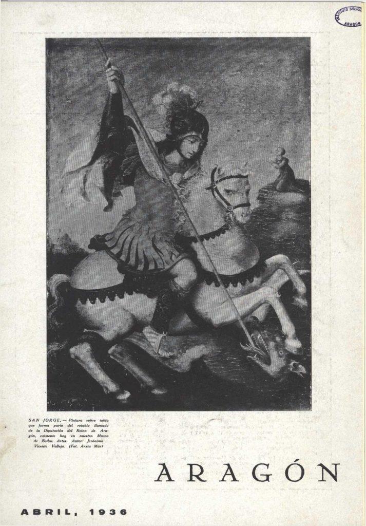 San Jorge en la revista 'Aragón' de 1936