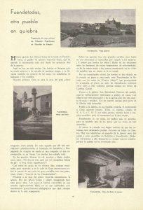 Artículo sobre Fuendetodos publicado en la revista en el número de marzo de 1938.