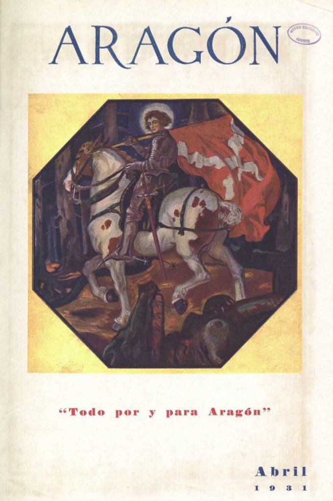 San Jorge en la revista 'ARAGÓN' de abril de 1931